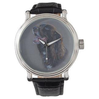 Relógio De Pulso Cão de Engish cocker spaniel. Pintura das belas