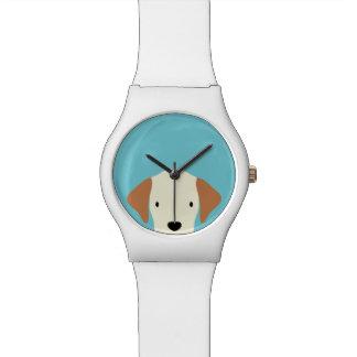 Relógio De Pulso Cão de filhote de cachorro pequeno bonito de