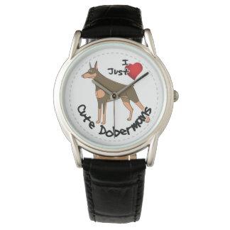 Relógio De Pulso Cão engraçado & bonito adorável feliz do Doberman