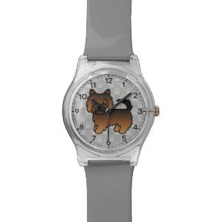 Relógio De Pulso Cão Grizzle dos desenhos animados de Norwich