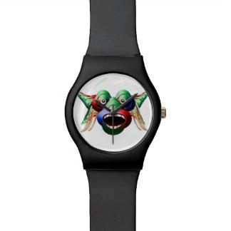 Relógio De Pulso Cara engraçada futurista do caráter do monstro
