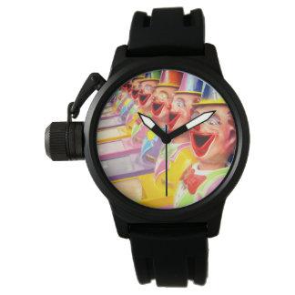 Relógio De Pulso Caras de riso felizes do palhaço,