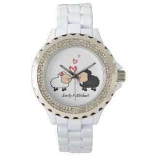 Relógio De Pulso Carneiros engraçados bonitos alegres adoráveis no