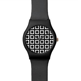 Relógio De Pulso Carvões e quadrados brancos