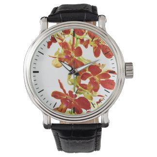 Relógio De Pulso Cascata de orquídeas alaranjadas