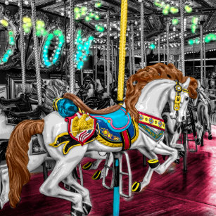 862312c4c50 Relógio De Pulso Cavalo colorido do carrossel no carnaval