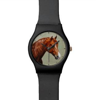 Relógio De Pulso Cavalo de Morgan da castanha