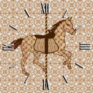 3f58fb5a0e7 Relógio De Pulso Cavalo do carrossel - castanho chocolate e Tan