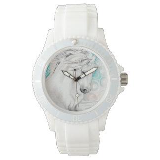 Relógio De Pulso Cavalos andaluzes azuis