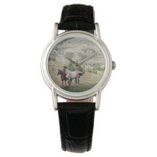 Relógio De Pulso Cavalos selvagens do parque nacional de Theodore