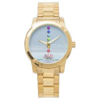 Relógio De Pulso Chakras e arco-íris - 3D rendem