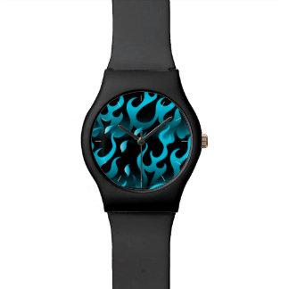 Relógio De Pulso Chamas azuis quentes