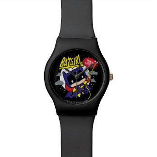 Relógio De Pulso Chibi Batgirl pronto para a ação