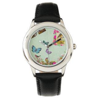Relógio De Pulso Chique, chique francês, vintage, floral, rústico,