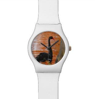 Relógio De Pulso Cisne preta