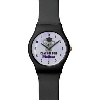 Relógio De Pulso Classe de urso de Koala 20xx bonito no boné de