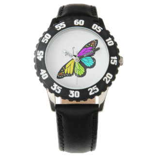 Relógio De Pulso Clipart colorido da borboleta