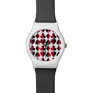 Relógio De Pulso Clube do diamante da pá do coração