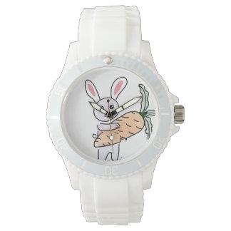 Relógio De Pulso Coelho com uma cenoura