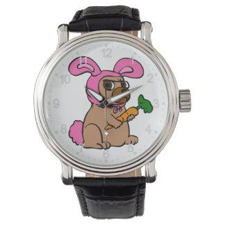 Relógio De Pulso Coelho do traje do cão