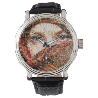 Relógio De Pulso Colagem-olho-menina beduína do menina-olho do
