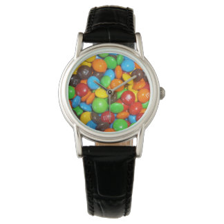 Relógio De Pulso Colorful_Chocolate_Candy_Ladies_Leather_Watch.