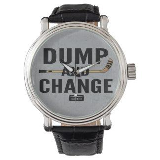 Relógio De Pulso Cor da vara de hóquei da descarga e da mudança