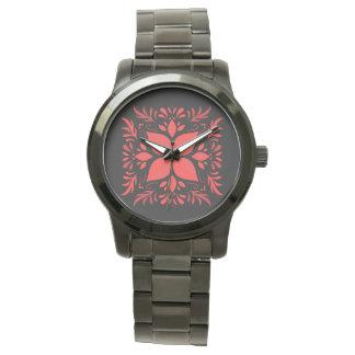 Relógio de pulso cor-de-rosa dos gráficos para