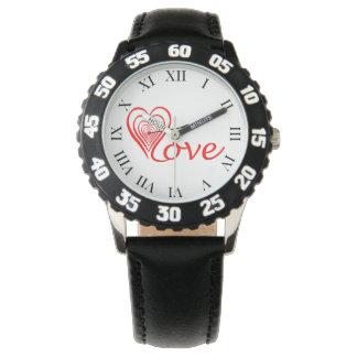 Relógio De Pulso Coração amor alvo com seta