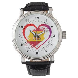 Relógio De Pulso Coração espanhol