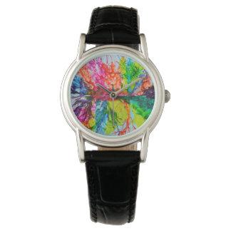 Relógio De Pulso Cores manchados de tinta brilhantes