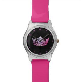 Relógio De Pulso Coroa cor-de-rosa da senhorita América