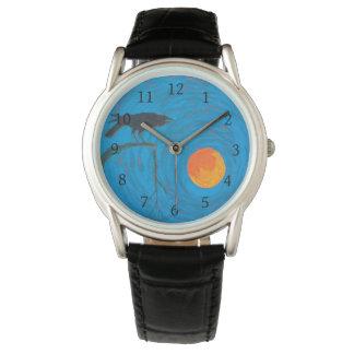 Relógio De Pulso Corvo e Lua cheia