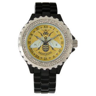 Relógio De Pulso Costume francês do zangão da abelha do favo de mel