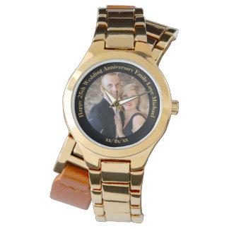 Relógio De Pulso Costume personalizado da FOTO do aniversário de