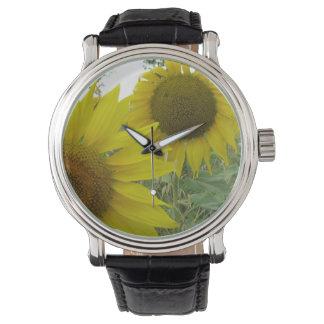 Relógio De Pulso Couro preto feito sob encomenda do vintage da foto