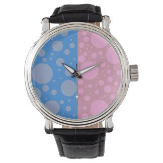 Relógio De Pulso Couro preto feito sob encomenda do vintage dos