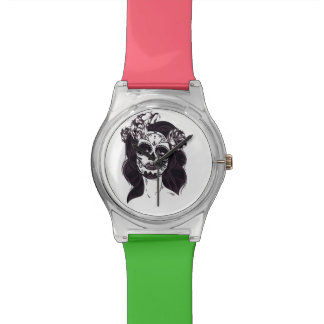 Relógio De Pulso Crânio gótico