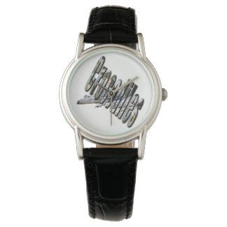 Relógio De Pulso Crocodilo australiano e logotipo do crocodilo,