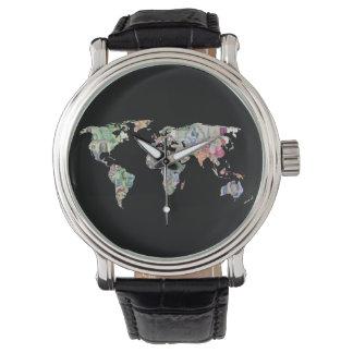 Relógio De Pulso cu do negócio do símbolo do país da finança do