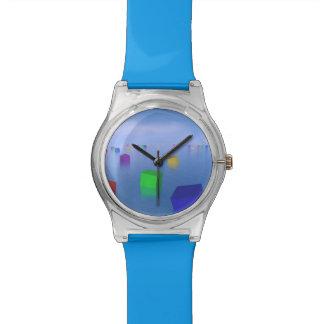 Relógio De Pulso Cubos coloridos que flutuam - 3D rendem
