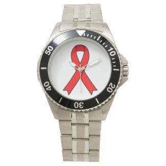 Relógio de pulso da consciência do AIDS