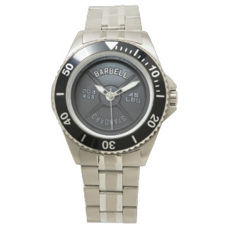 Relógio de pulso da placa do Barbell