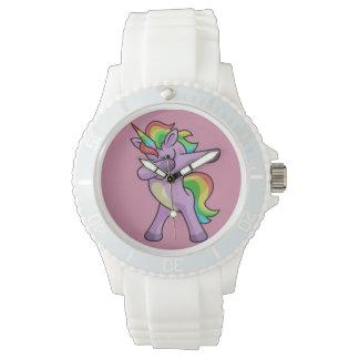 Relógio De Pulso Dança bonito de Dabber do unicórnio