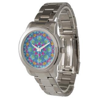 Relógio De Pulso Das mulheres coloridas do vintage dos corações o