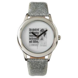 Relógio De Pulso Das mulheres espectrais do rolo de cilindro de