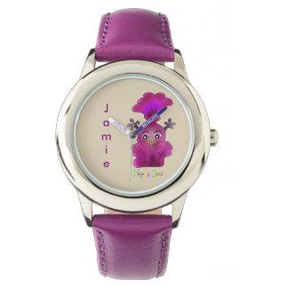 Relógio de pulso de aço inoxidável bonito - Lila