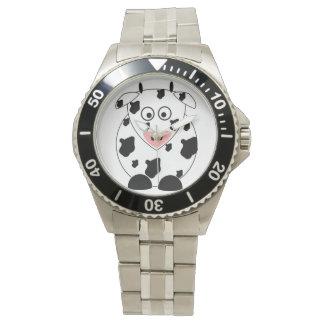 Relógio de pulso de aço inoxidável do bracelete da