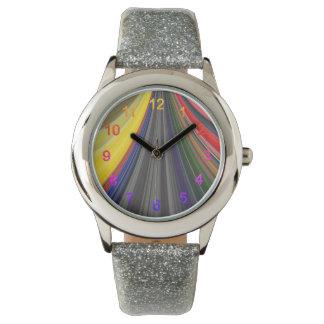 Relógio De Pulso De cores escrutinado