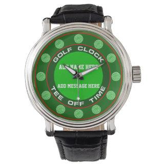 Relógio de pulso de disparo do golfe